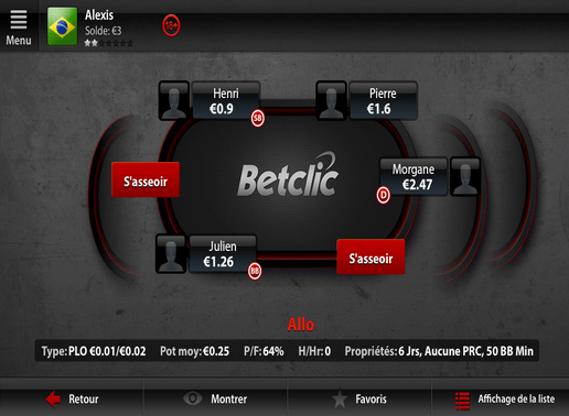 Application betclic poker android environmental systems inc jackpot slots