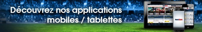 Appli NetBet pour mobile